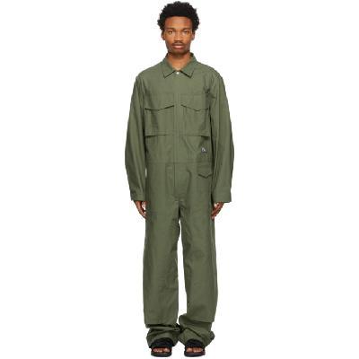 Jil Sander Khaki Workwear Jumpsuit