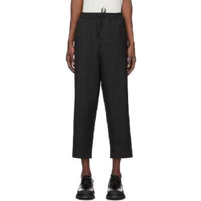 Jil Sander Black Wool Twill Trousers