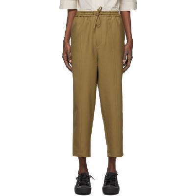 Jil Sander Khaki Wool Twill Trousers