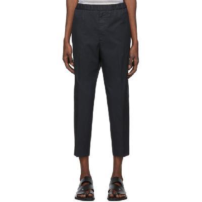Jil Sander Navy Gabardine Trousers