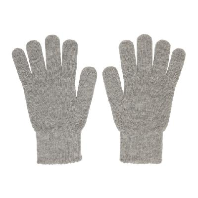 John Elliott Grey Wool & Cashmere Gloves