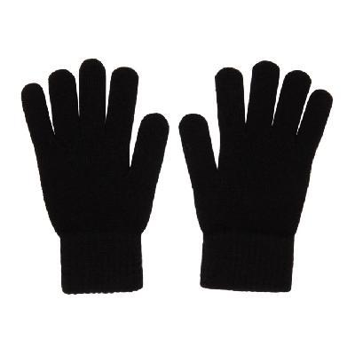 John Elliott Black Wool & Cashmere Gloves
