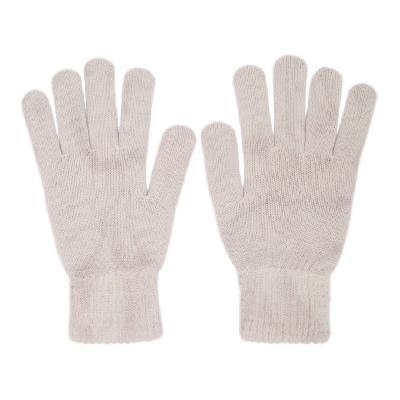 John Elliott Beige Cashmere Tie-Dye Gloves