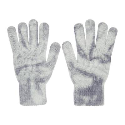 John Elliott Blue Cashmere Tie-Dye Gloves