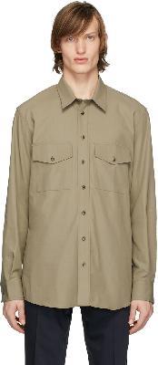 Joseph Khaki Twill Double Pocket Shirt