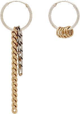 Justine Clenquet Silver & Gold Jane Hoop Earrings