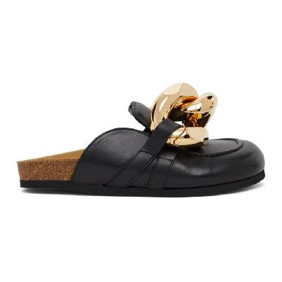 JW Anderson Black Chain Slippers
