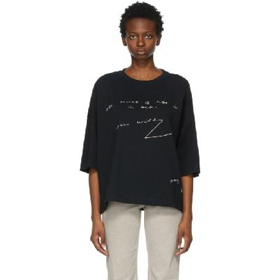 JW Anderson Black Oversized Oscar Wilde T-Shirt
