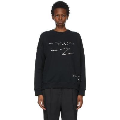 JW Anderson Black Oversized Oscar Wilde Sweatshirt