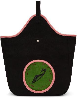 Kiko Kostadinov Black & Pink Aristides Embroidery Tote