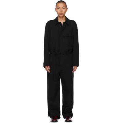 Lemaire Black Cotton & Linen Jumpsuit