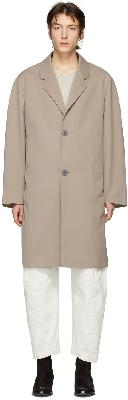 Lemaire Beige Wool Chesterfield Coat