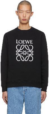 Loewe Black Embroidered Anagram Sweatshirt