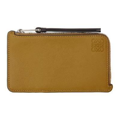 Loewe Yellow & Taupe Coin Card Holder