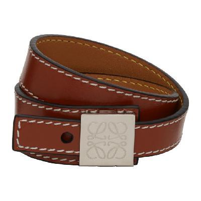 Loewe Brown Thin Bracelet