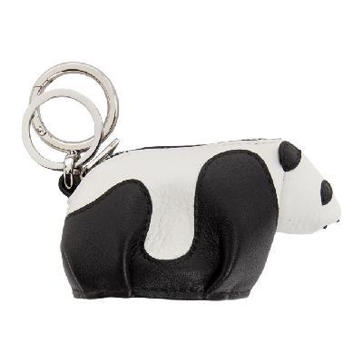 Loewe Black & White Panda Charm Keychain