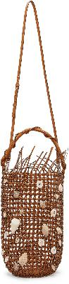 Loewe Tan Mesh Bolso Bucket Bag