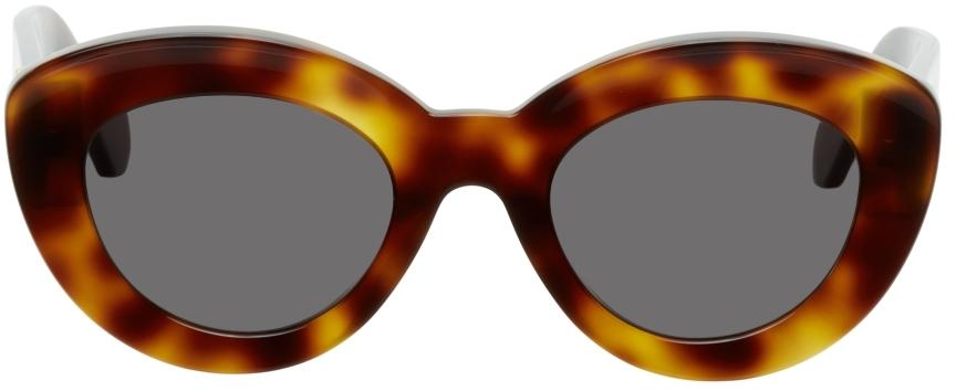 Loewe Brown Butterfly Anagram Sunglasses