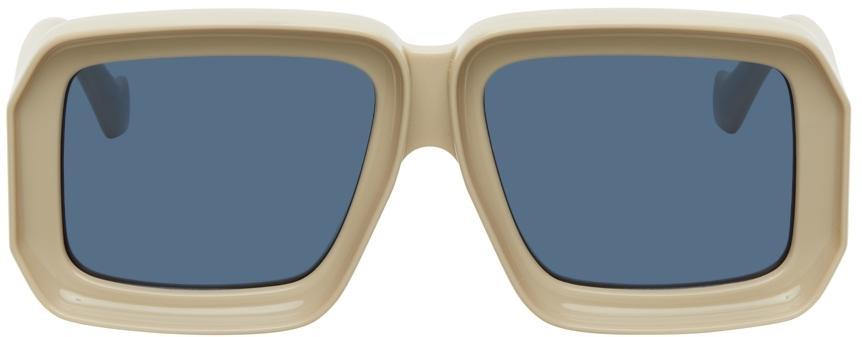 Loewe Beige Paula's Ibiza Dive In Mask Sunglasses