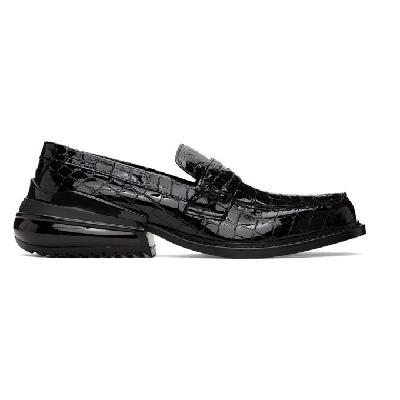 Maison Margiela Black Croc Airbag Loafers