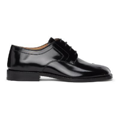 Maison Margiela Black Tabi Lace-Up Loafers