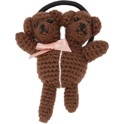 Marc Jacobs Brown Heaven by Marc Jacobs Double-Headed Teddy Hair Tie