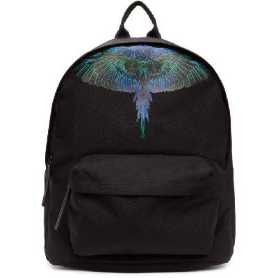 Marcelo Burlon County of Milan Black & Blue Neon Wings Backpack