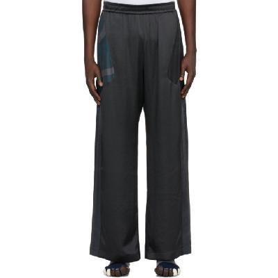 Marine Serre Black Silk Scarves Regenerated Lounge Pants