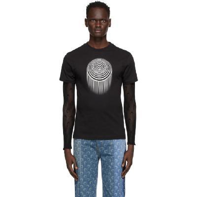 Marine Serre Black Large Optic Moon T-Shirt