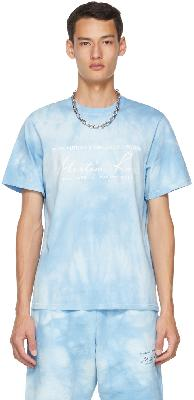 Martine Rose Blue Tie-Dye Logo T-Shirt