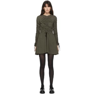 Molly Goddard SSENSE Exclusive Khaki Cotton Lola Dress