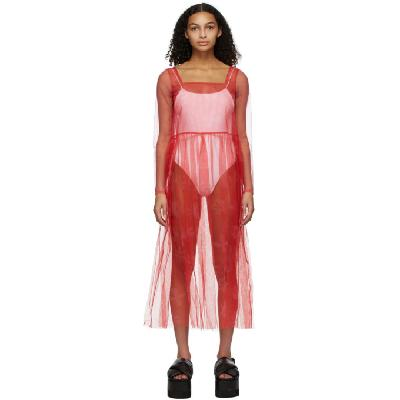 Molly Goddard Pink Tabby Dress