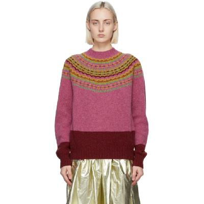Molly Goddard Pink & Red Benny Sweater