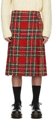 Molly Goddard Red Tartan Finn Kilt Skirt