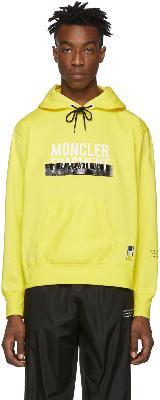 Moncler Genius 7 Moncler FRGMT Hiroshi Fujiwara Yellow Logo Hoodie