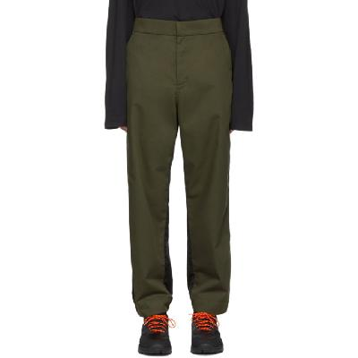 Moncler Genius 5 Moncler Craig Green Green & Black Nylon Trousers