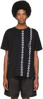 Moncler Genius 7 Moncler FRGMT Hiroshi Fujiwara Black Stripe T-Shirt