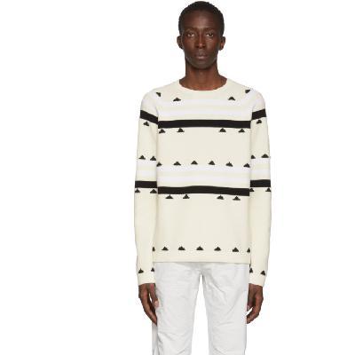 Moncler Genius 2 Moncler 1952 Beige Striped Sweater