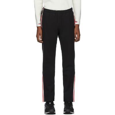 Moncler Grenoble Black Side Stripe Performance Ski Lounge Pants