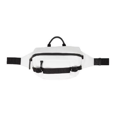 Moncler White Nylon Belt Bag