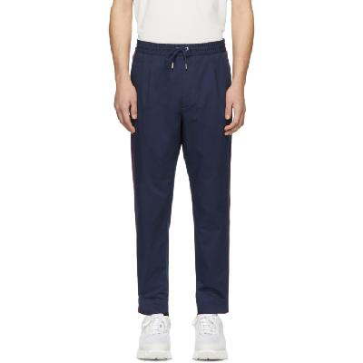 Moncler Navy Side Stripe Sportivo Trousers