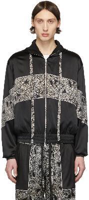 Nahmias Black & White Silk Courtside Jacket