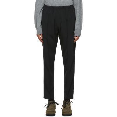 Needles Black Doeskin Warm Up Track Pants