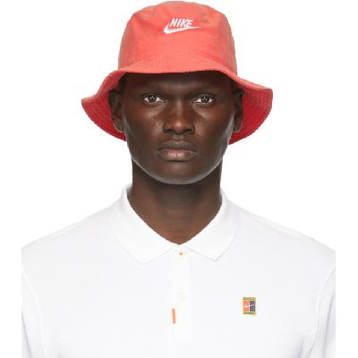 Nike Red Washed NSW Bucket Hat