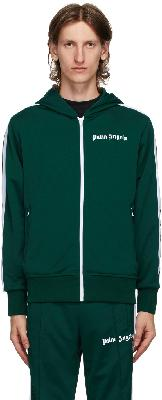 Palm Angels Green Hooded Classic Track Jacket