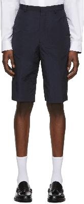 Paul Smith Navy Oversized Ripstop Shorts