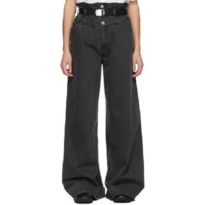 Raf Simons Black Sterling Ruby Edition Oversized Wide-Leg Jeans