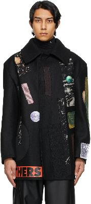 Raf Simons Black Sterling Ruby Edition Patches Jacket