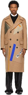 Raf Simons Beige Sterling Ruby Edition Patches Coat
