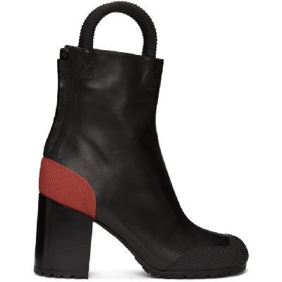 Random Identities Black & Red Worker Boots